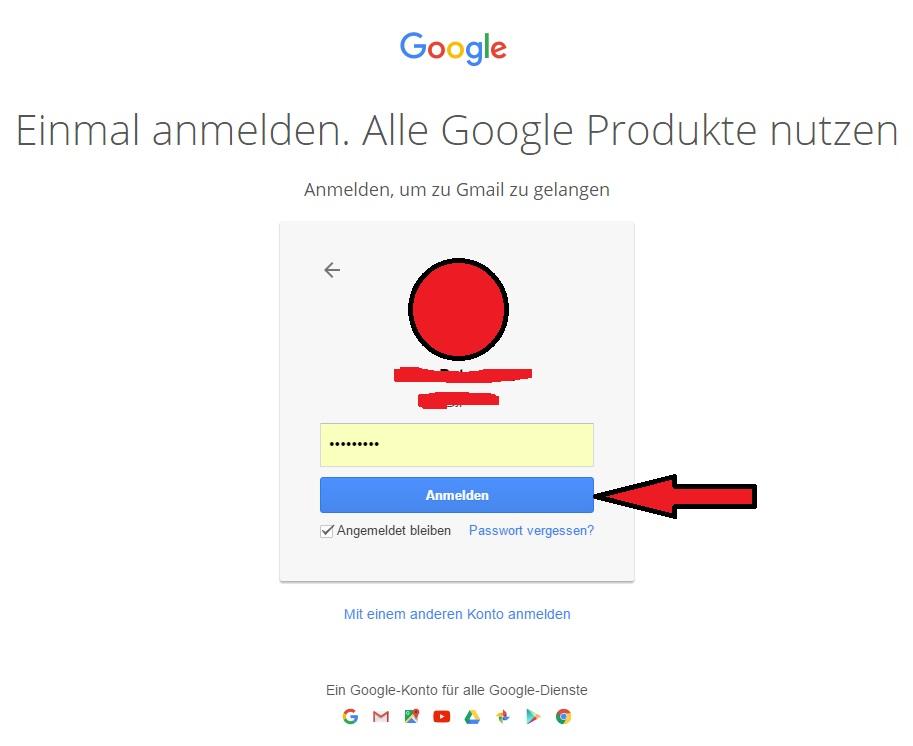 gmail.de login - anmelden klicken