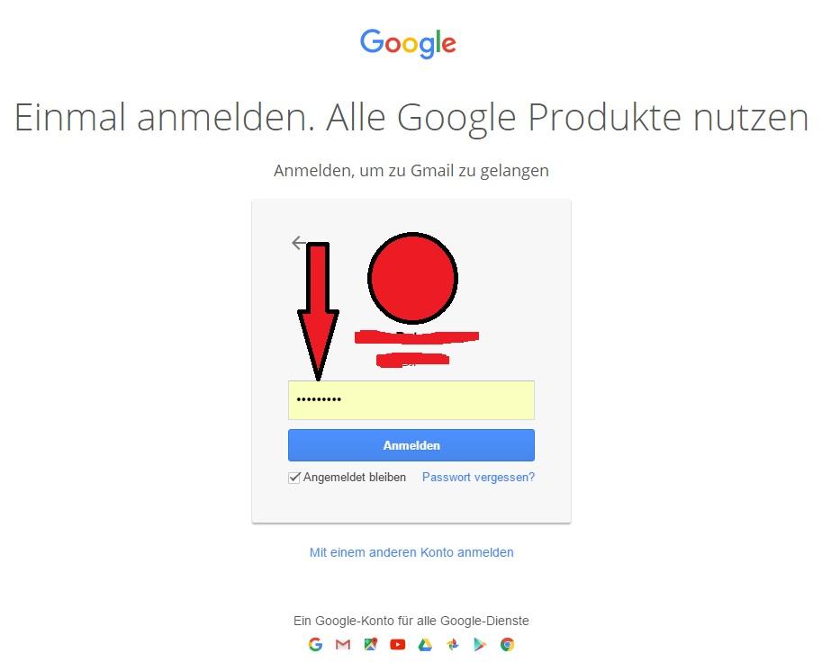 gmail.de login - passwort eingeben